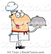 Stock Cartoon of a Friendly Caucasian Male Chef by Hit Toon