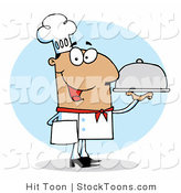 Stock Cartoon of a Friendly Hispanic Chef by Hit Toon