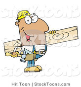 Stock Cartoon of a Friendly Hispanic Construction Worker by Hit Toon