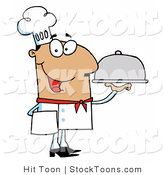 Stock Cartoon of a Friendly Hispanic Male Chef by Hit Toon