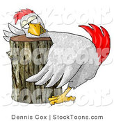 Stock Cartoon of a Funny Chicken by Djart