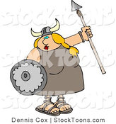 Stock Cartoon of a Funny Viking by Djart