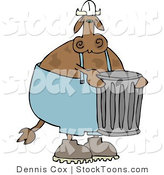 Stock Cartoon of a Garbageman Cow by Djart