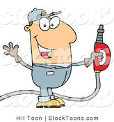 Stock Cartoon of a Gas Man by Hit Toon
