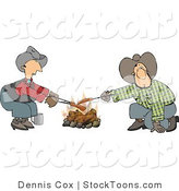 Stock Cartoon of a Gay Cowboys by Djart