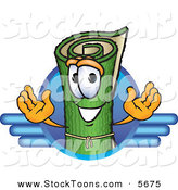 Stock Cartoon of a Grinning Green Carpet Mascot Cartoon Character Logo with Blue Lines by Toons4Biz