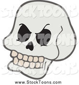 Stock Cartoon of a Grinning Skull by Visekart