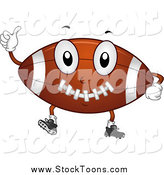 Stock Cartoon of a Happy American Football Character Holding a Thumb up by BNP Design Studio