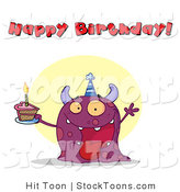 Stock Cartoon of a Happy Birthday by Hit Toon