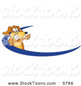 Stock Cartoon of a Happy Brown Dog Mascot Cartoon Character Logo by Toons4Biz