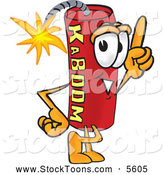 August 10th, 2013: Stock Cartoon of a Happy Dynamite Mascot Cartoon Character Pointing Upwards by Toons4Biz