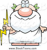 September 17th, 2014: Stock Cartoon of a Happy Greek Man Holding a Lightning Bolt by Cory Thoman