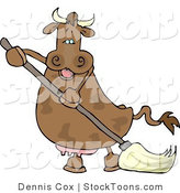 Stock Cartoon of a Happy Human-like Cow by Djart