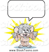June 5th, 2015: Stock Cartoon of a Happy Micah Mouse with a Speech Balloon by Johnny Sajem