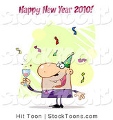 Stock Cartoon of a Happy New Year by Hit Toon