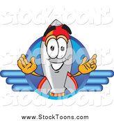 Stock Cartoon of a Happy Rocket by Toons4Biz