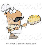 Stock Cartoon of a Hispanic Bread Baker Man by Hit Toon