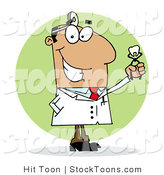 Stock Cartoon of a Hispanic Cartoon Dentist by Hit Toon