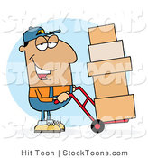Stock Cartoon of a Hispanic Delivery Guy by Hit Toon