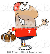 Stock Cartoon of a Hispanic Football Man by Hit Toon