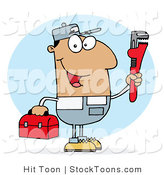 Stock Cartoon of a Hispanic Worker by Hit Toon