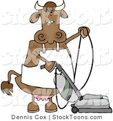 Stock Cartoon of a Housewife Cow by Dennis Cox