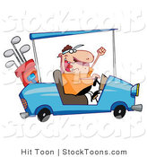 Stock Cartoon of a Hyper Caucasian Man Driving by Hit Toon