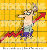 Stock Cartoon of a Increase Arrow on a Graph Chart by Toonaday