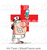 Stock Cartoon of a Lady Nurse in a White Uniform by Hit Toon
