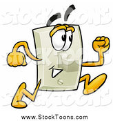 Stock Cartoon of a Light Switch Running by Toons4Biz