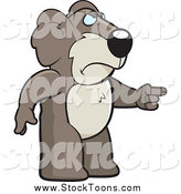 Stock Cartoon of a Mad Koala Pointing to the Right by Cory Thoman