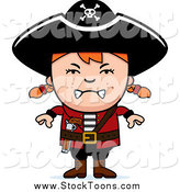 September 29th, 2014: Stock Cartoon of a Mad Red Haired White Pirate Girl by Cory Thoman