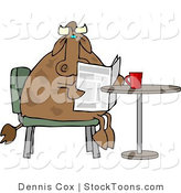 Stock Cartoon of a Male Cow by Djart