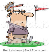 Stock Cartoon of a Male Golfer by Toonaday