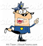 Stock Cartoon of a Male Police Officer by Hit Toon