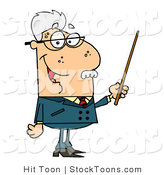 Stock Cartoon of a Male Senior by Hit Toon