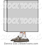 Stock Cartoon of a Man in a Box by Djart