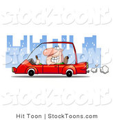 Stock Cartoon of a Man Smiling and Passing by by Hit Toon