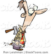 Stock Cartoon of a Man with an Axe by Toonaday