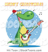 Stock Cartoon of a Merry Christmas Greeting by Hit Toon