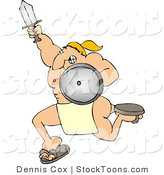 Stock Cartoon of a Muscular Warrior by Djart