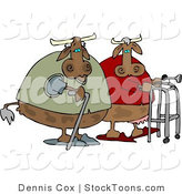 Stock Cartoon of a Old Cows by Djart