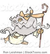 Stock Cartoon of a Personification of a Senior Man by Toonaday