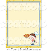 Stock Cartoon of a Pizza Boy by Hit Toon