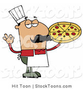 Stock Cartoon of a Pleased Male Hispanic Chef by Hit Toon