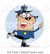 Stock Cartoon of a Police Officer by Hit Toon