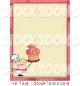Stock Cartoon of a Proud Cake Chef by Hit Toon