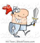 Stock Cartoon of a Proud Knight Walking by Hit Toon