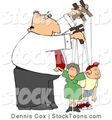 Stock Cartoon of a Puppeteer Man by Djart