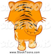 Stock Cartoon of a Rear View of a Tiger Walking Away by BNP Design Studio